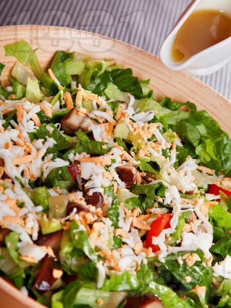 Зелена салата с патладжани - снимка на рецептата